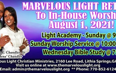 In-House Worship Resumes Aug 1st!